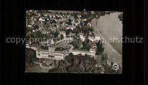 Hanau Main mit Schloss Philippsruhe (Luftaufnahme) Kat. Hanau