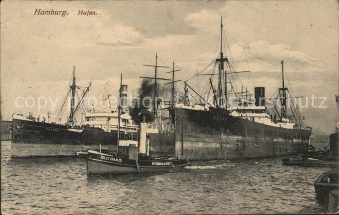 Schiffe Hamburg Hafen Dampfer Willy Charles  Kat. Schiffe