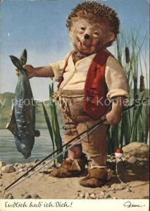 Mecki Nr. 317 Fisch angeln Angelrute  Kat. Comic