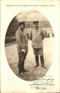 Hindenburg Kaiser Wilhelm II. Foto aufgenommen von der Kaiserin Auguste Viktoria Rotes Kreuz Kat. Persoenlichkeiten