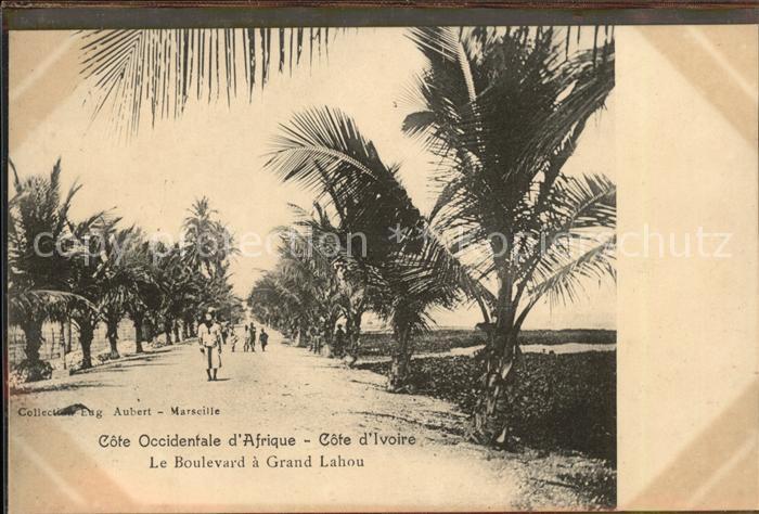 Afrika Afrique Africa Cote Occidentale d`Afrique d`Ivoire Le Boulevard a Grand Lahou Kat. Regionales