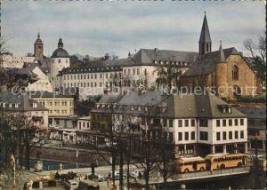 Siegen Westfalen Siegbruecke mit unterem Schloss und Martinikirche / Siegen /Siegen-Wittgenstein LKR