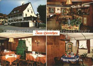 Kirchzarten Gasthaus Zum Hirschen Kat. Kirchzarten