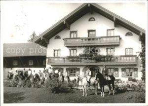 Siegsdorf Oberbayern Reiter Pferde Kat. Siegsdorf