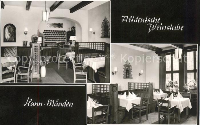 Hann. Muenden Altdeutsche Weinstube Kat. Hann. Muenden