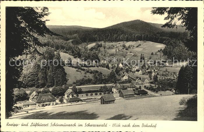 Schoenmuenzach Teilansicht mit Bahnhof Kat. Baiersbronn