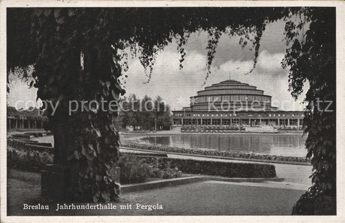 Breslau Niederschlesien Jahrhunderthalle Pergola Kat. Wroclaw