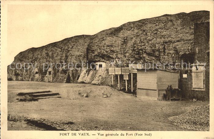 Fort de Vaux Vue generale du Fort Kat. Verdun