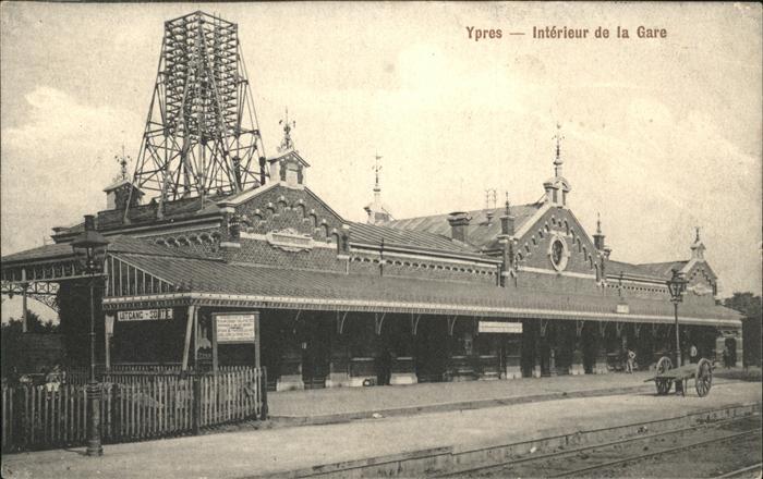 aw02250 Ypres Ypern West Vlaanderen Interieur de la Gare Kategorie.  Alte Ansichtskarten