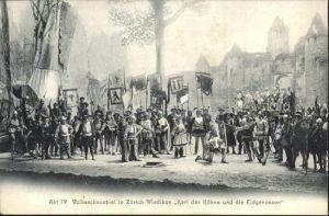 Zuerich Wiedikon Volksschauspiel Karl der Kuehne / Zuerich /Bz. Zuerich City