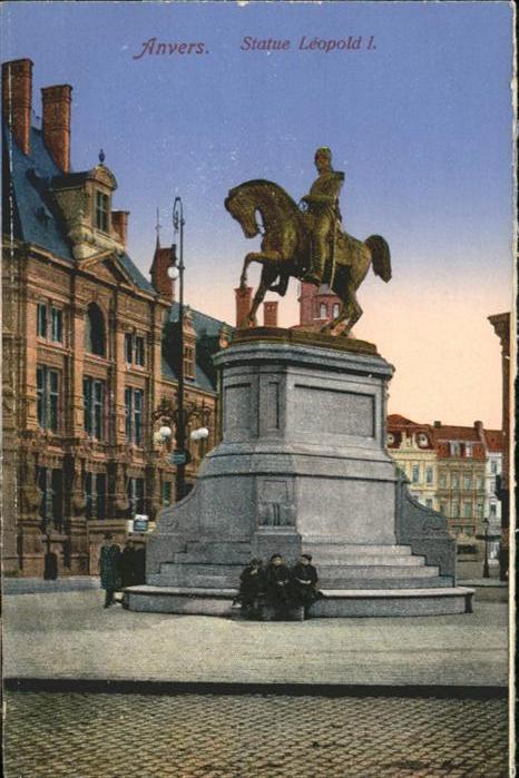 Anvers Antwerpen Statue Leopold /  /