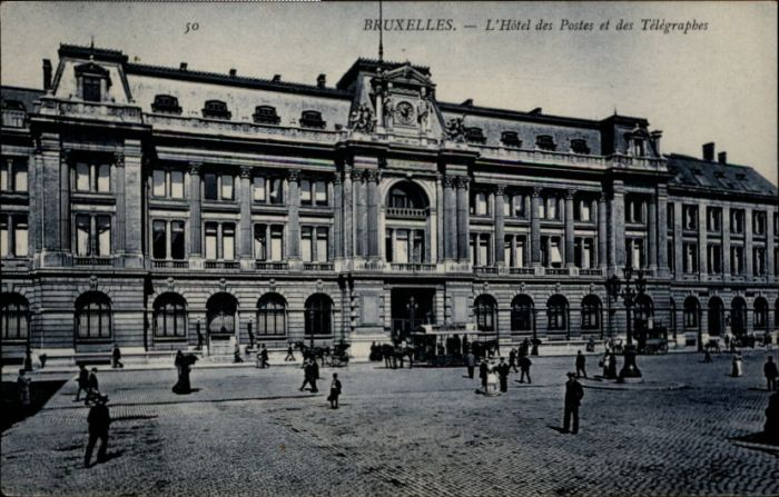 Bruxelles Bruessel Telegraphes Hotel Postes x /  /