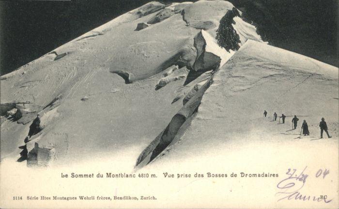 Montblanc Montblanc Sommet Bosses Dromadaires * / Chamonix-Mont-Blanc /Arrond. de Bonneville