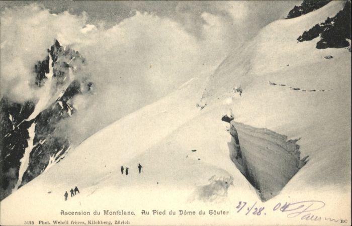 Montblanc Montblanc Dome Gouter * / Chamonix-Mont-Blanc /Arrond. de Bonneville