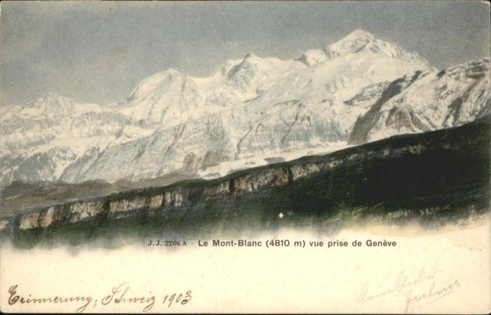 Montblanc Montblanc  * / Chamonix-Mont-Blanc /Arrond. de Bonneville