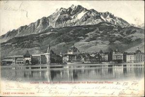 Luzern LU Luzern Friedensmuseum Bahnhof Pilatus x / Luzern /Bz. Luzern City