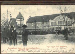 Ausstellung Kunst Gartenbau Duesseldorf 1904  grosse Blumenhalle