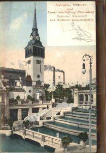 Ausstellung Industrie Gewerbe Kunst Duesseldorf 1902  Deutscher Betonverein Brunen Kaskaden