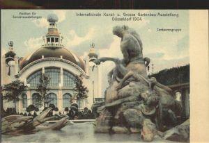 Ausstellung Kunst Gartenbau Duesseldorf 1904  Centaurengruppe Pavillion Sonderausstellungen