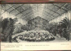 Ausstellung Kunst Gartenbau Duesseldorf 1904  Inneres Haupt Blumenhalle Sueden