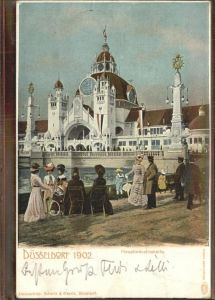Ausstellung Industrie Gewerbe Kunst Duesseldorf 1902  Hauptindustriehalle