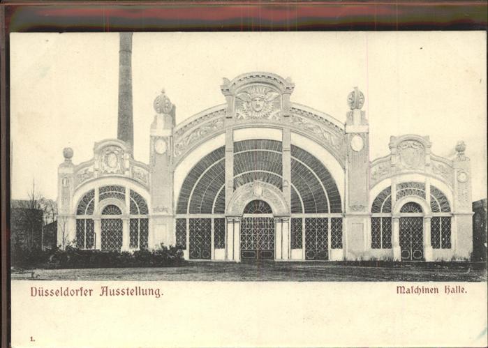Ausstellung Industrie Gewerbe Kunst Duesseldorf 1902  Maschinen Halle