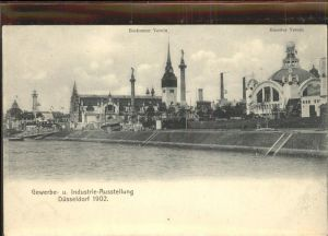 Ausstellung Industrie Gewerbe Kunst Duesseldorf 1902  Hoerder Verein Bochumer Verein
