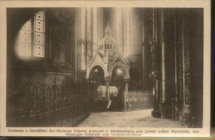 Doberan Bad Innenansicht von der Klosterkirche (Grabstaette von Herzog Johann Albrecht v.Mecklenburg) Kat. Bad Doberan