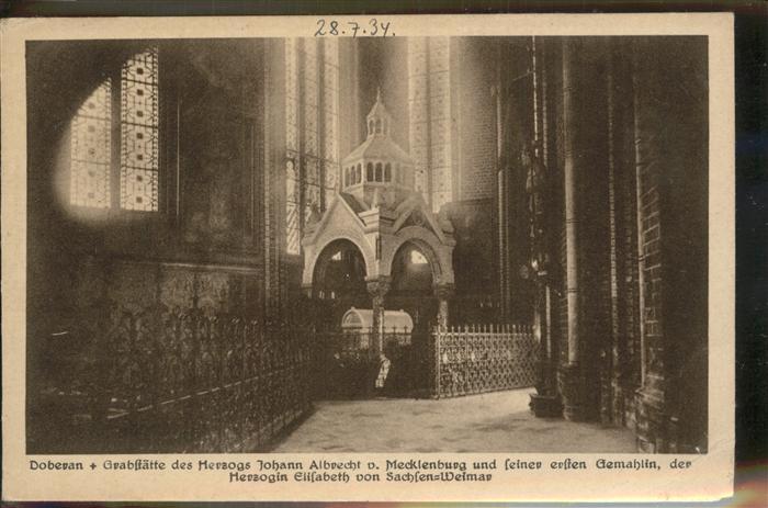 Doberan Bad Innenansicht von der Klosterkirche (Grabstaette v.Herzog Johann Albrecht v.Mecklenburg) Kat. Bad Doberan