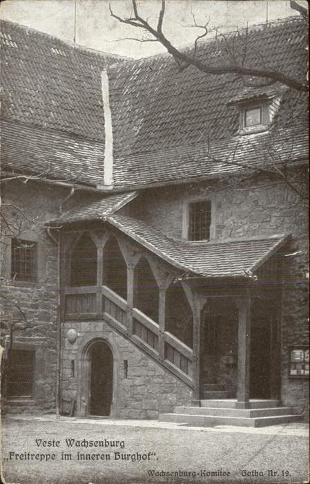 Wachsenburg Veste Freitreppe Burghof Kat. Wachsenburggemeinde