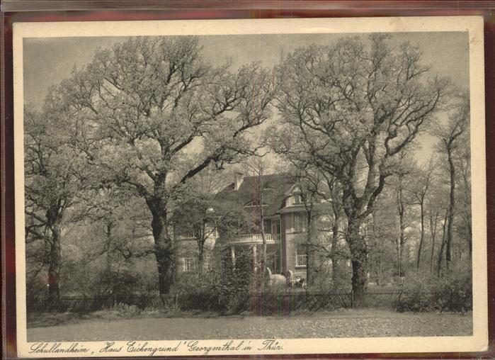 Georgenthal Schullandheim Haus Eichengrund Kat. Georgenthal