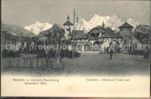 Ausstellung Industrie Gewerbe Kunst Duesseldorf 1902  Suldenthal Zillerthal Tiroler Dorf Kat. Duesseldorf