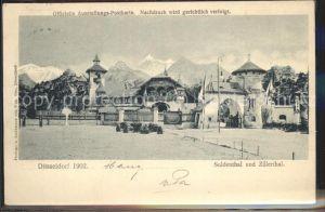 Ausstellung Industrie Gewerbe Kunst Duesseldorf 1902  Suldenthal Zillerthal Kat. Duesseldorf