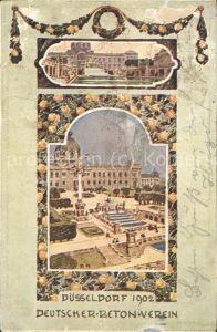 Ausstellung Industrie Gewerbe Kunst Duesseldorf 1902  Deutscher Beton Verein Kat. Duesseldorf