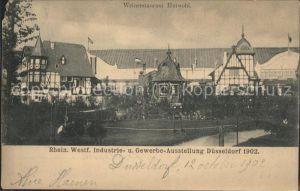 Ausstellung Industrie Gewerbe Kunst Duesseldorf 1902  Weinrestaurant Hutwohl Kat. Duesseldorf
