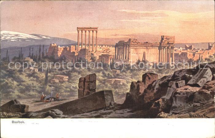 libanon Panorama Baalbek Kat. Libanon