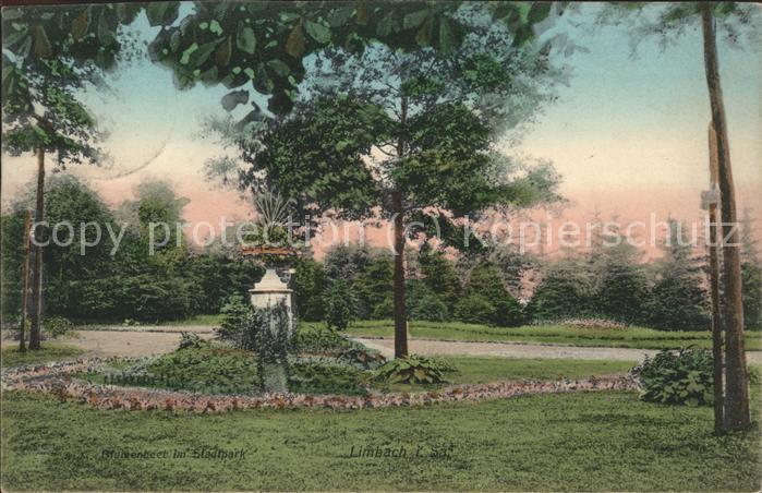 41470165 Limbach Sachsen Blumnebeet im Stadtpark Limbach-Oberfrohna Limbach_Sachsen