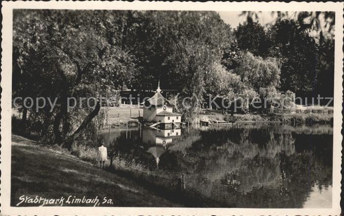 41470167 Limbach Sachsen Stadtpark mit Teich Limbach-Oberfrohna Limbach_Sachsen