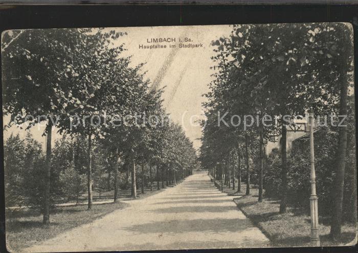 41470347 Limbach Sachsen Hauptallee im Stadtpark Limbach-Oberfrohna Limbach_Sachsen