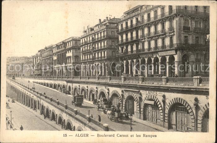 Alger Algerien Boulevard Carnot et les Rampes / Algier Algerien /
