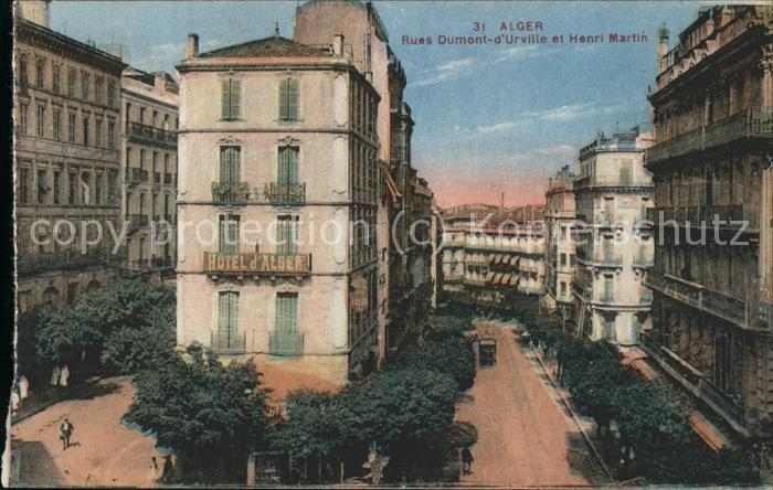 Alger Algerien Rue Dumont d'Urville et Henri Martin / Algier Algerien /
