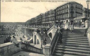 Alger Algerien Les Escalier de la Pecherie et Boulevard de la Republique / Algier Algerien /