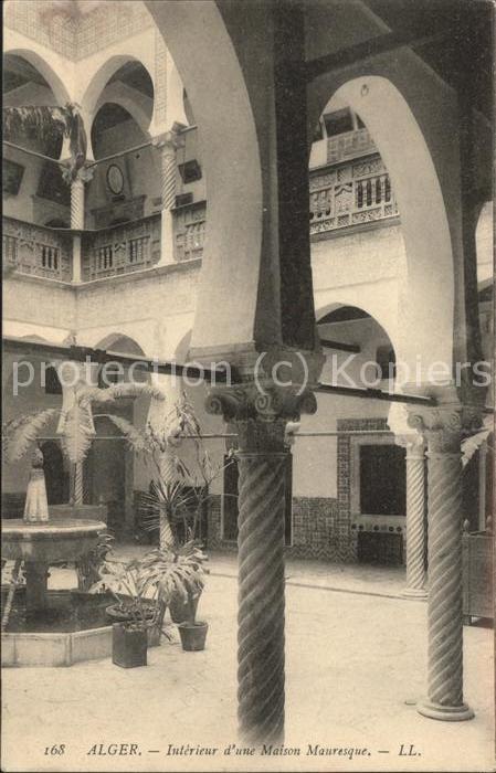 Alger Algerien Interieur d\'une Maison Mauresque / Algier Algerien ...