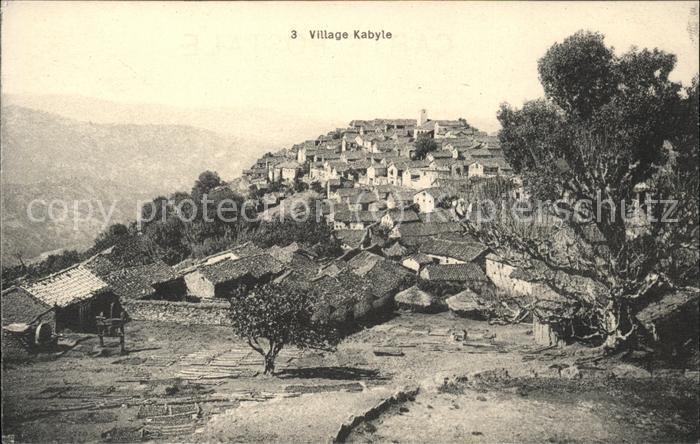 Kabyle Vue generale du village Kat. Algerien