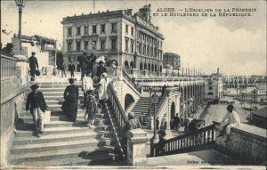 Alger Algerien Escalier de la Pecherie et Boulevard de la Republique / Algier Algerien /