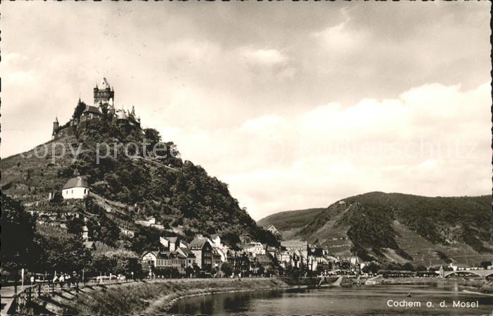 Cochem Mosel Panorama Mosel Burg Kat. Cochem
