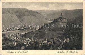 Cochem Mosel Mosel Burg Blick von Umkehr Kat. Cochem