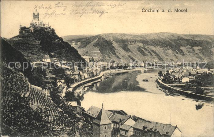 Cochem Mosel Mosel Panorama Burg  Kat. Cochem