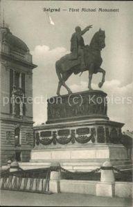 Belgrad Serbien Fuerst Michael Monument Kat. Serbien