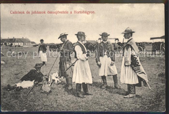 hd04690 Hortobagy Csikosok es juhaszok Hirten und Reiter Kategorie. Ungarn Alte Ansichtskarten